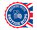 brewed with british hops logo