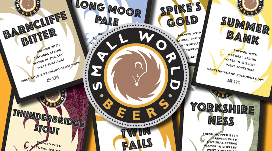 beer clips and small world beers logo