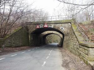 railway bridge on the way to the brewery