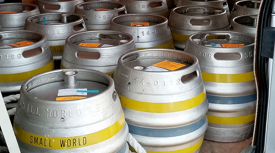 small world beers kegs