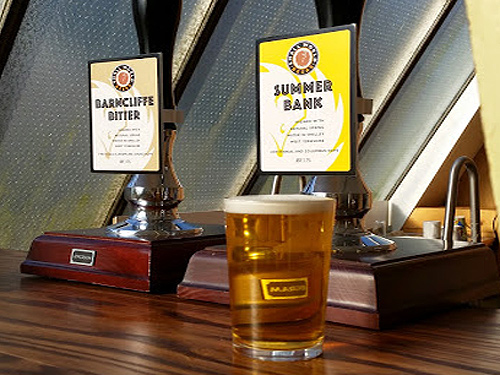 barncliffe bitter and summer bank beer pumps